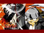 1024x768 hei_jin izanagi lens_flare narukami_yuu oto_tin parody persona persona_4 seta_souji style_parody tengen_toppa_gurren_lagann wallpaper watermark