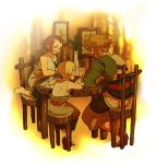 blue_eyes brown_hair colin earrings jewelry link nintendo pencil pointy_ears talo the_legend_of_zelda tubumi twilight_princess wooden_pencil