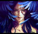 1boy black_eyes hiding highres illuso jojo_no_kimyou_na_bouken long_hair male_focus meron_nouka portrait purple_hair red-eye_effect shade solo