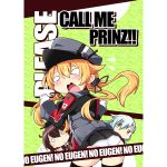 >:> 3girls anchor_hair_ornament blonde_hair brown_hair check_translation cover cover_page doujin_cover english gloves green_hair hair_ornament hat kantai_collection kumano_(kantai_collection) military military_uniform multiple_girls o_o orange_hair panties peaked_cap prinz_eugen_(kantai_collection) pun reku suzuya_(kantai_collection) tearing_up tears translation_request twintails underwear uniform white_gloves white_panties yellow_eyes