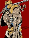 beast_wars claws clenched_teeth cowboy_shot dated dinobot dinosaur fangs kamizono_(spookyhouse) maximal mecha no_humans predacon prehistoric_animal red_background red_eyes robot smile solo sword teeth transformers twitter_username velociraptor weapon