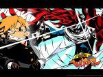 1024x768 hanamura_yousuke hei_jin oto_tin parody persona persona_4 style_parody tengen_toppa_gurren_lagann wallpaper watermark