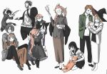 animal_ears anna's_older_brother anna_(gendai_majo_zukan) annotated baby bird black_hair brother_and_sister brown_hair cat dog_ears family father_and_daughter gendai_majo_zukan glasses gun hei_(gendai_majo_zukan) highres husband_and_wife kaname_(gendai_majo_zukan) kiwa_(gendai_majo_zukan) knife long_hair mother_and_daughter owl pink_hair ryouko_(gendai_majo_zukan) school_uniform short_hair siblings tear_(gendai_majo_zukan) tobe_rikuo tomo_(gendai_majo_zukan) tsukinowa_kousuke van_(gendai_majo_zukan) weapon youichi_(gendai_majo_zukan)