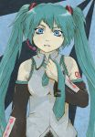 1girl blue cute czechonski diva eyes green hair hatsune_miku imaginatoria kawaii marcin necktie ponytail project vocaloid