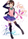 birthday black_hair blush long_hair love_live!_school_idol_project red_eyes seifuku skirt smile twintails yazawa_nico