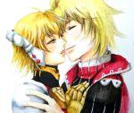 1boy 1girl blonde_hair couple fiorun short_hair shulk spoilers xenoblade