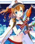blue_eyes blush gloves guns hat kousaka_honoka love_live!_school_idol_project orange_hair seifuku short_hair smile