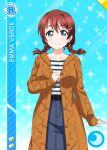 character_name emma_verde green_eyes jacket love_live!_nijigasaki_high_school_idol_club love_live!_school_idol_festival redhead short_hair smile