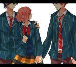 gomi_chiri ichinose_tokiya ittoki_otoya nanami_haruka red_hair uta_no_prince-sama yellow_eyes