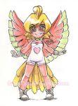 1girl art artwork creatures_(company) cute drawing fanart game_freak gijinka ho-oh illustration moemon nintendo personification pokejinka pokemon satrathai