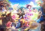 6+boys 6+girls alolan_exeggutor artist_name female_protagonist_(pokemon_sm) guzuma_(pokemon) hala_(pokemon) hau_(pokemon) kaki_(pokemon) kokoroko kukui_(pokemon) lillie_(pokemon) litten_(pokemon) maamane_(pokemon) male_protagonist_(pokemon_sm) mao_(pokemon) multiple_boys multiple_girls oricorio plumeria_(pokemon) pokemon pokemon_(creature) pokemon_(game) pokemon_sm popplio rotom rowlet suiren_(pokemon) sweatdrop tapu_koko team_skull team_skull_grunt zygarde_10_percent