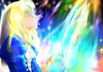 1girl blonde_hair blue_eyes fate/grand_order fate/stay_night fate_(series) highres juliet_sleeves long_hair long_sleeves puffy_sleeves saber solo takasaki_aneki