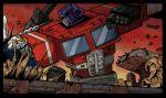 battle collateral_damage crossover face_punching gundam gundam_wing mecha optimus_prime punching robot transformers wing_gundam_zero_custom
