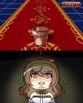 1girl carpet flower_knight_girl flower_pot grin nazuna_(flower_knight_girl) seed smile urushi