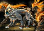 artist_request lion mane no_humans pokemon pokemon_(game) pokemon_sm pokemon_xy pyroar sketch solgaleo tagme