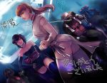 2girls 3boys april_o'neil ayane_(doa)_(cosplay) bow cosplay crossdressing dead_or_alive donatello hair_bow karai kasumi_(doa)_(cosplay) leonardo looking_at_viewer multiple_boys multiple_girls raphael teenage_mutant_ninja_turtles yu_kibe