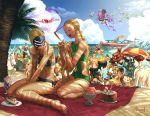 6+boys 6+girls alex_(street_fighter) antenna_hair aura azam bandana beach beach_chair beach_umbrella beard bikini bird birdie_(street_fighter) blue_sky boat braid braiding_hair cake cammy_white chun-li commentary crimson_viper dark_skin decapre dhalsim everyone f.a.n.g facial_hair fire flying food grill grilling hairdressing han_juri ibuki_(street_fighter) ice_cream juni kanzuki_karin ken_masters laura_matsuda li-fen mask multiple_boys multiple_girls ocean palm_tree pnzrk rainbow_mika rashid_(street_fighter) sand sean_matsuda siblings sky smile street_fighter street_fighter_v sunglasses swimsuit toned tree turban umbrella urien vega water watercraft zangief
