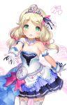 blonde_hair blush green_eyes idolmaster idolmaster_cinderella_girls kozue_yusa long_hair low_twintails twintails