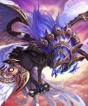 bird blue_eyes highres kamigoku_no_valhalla_gate kawahara_ryuuta monster no_humans original