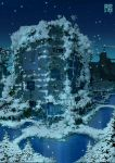 highres mac original overgrown power_lines scenery snow tokyogenso tree water