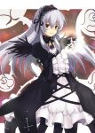 dress frills hairband long_hair purple_eyes rosa_mystica rozen_maiden silver_hair suigintou violet_eyes wings