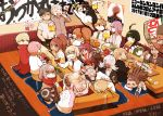 +_+ 6+boys 6+girls afro ahoge alcohol andou_ruruka android asahina_aoi bandai_daisaku barrel bear beard beer beer_mug black_hair blonde_hair blue_hair brown_hair cellphone chopsticks closed_eyes coat controller cow_mask cup danganronpa danganronpa_3 doughnut drinking drinking_glass drunk facial_hair food formal fukawa_touko gekkougahara_miaya genocider_shou glasses great_gozu green_eyes green_hair hagakure_yasuhiro hairband hairlocs highres hood hotpot idate_(horrygreen) izayoi_sounosuke kimura_seiko kirigiri_kyouko kizakura_kouichi lavender_hair long_hair long_tongue microphone mitarai_ryouta monaka_(danganronpa) monokuma monomi_(danganronpa) multiple_boys multiple_girls munakata_kyousuke music naegi_komaru naegi_makoto necktie necktie_on_head phone pink_hair ponytail poster purple_hair rabbit remote_control sakakura_juuzou scarf scarf_over_mouth scissors short_hair silver_hair singing sitting smartphone smile sparkle spoilers suit sukiyaki surgical_mask surprised sweat table tengan_kazuo toast_(gesture) togami_byakuya tongue tongue_out wine_glass wrestling_mask yukizome_chisa