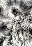 blue-eyes_white_dragon commentary_request dragon duel_monster highres large_wings sharp_teeth solo teeth wings yuu-gi-ou yuu-gi-ou_duel_monsters