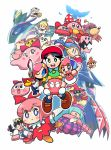6+girls adeleine adventures_of_lolo angel_(kirby) armor beret bird black_hair blob_(kirby) blonde_hair blue_hair blue_legwear blush_stickers bouncy_(kirby) bouncy_sis_(kirby) bow boxy_(kirby) broom broom_riding brown_shoes chuchu_(kirby) claycia commentary_request crown drawcia dress dyna_blade elline_(kirby) fairy_wings feathers female_gooey_(kirby) glasses green_dress hair_ribbon hal_laboratory_inc. hands_in_sleeves hat highres hoshi_no_kirby hoshi_no_kirby_2 hoshi_no_kirby_3 hoshi_no_kirby_64 hoshi_no_kirby_kagami_no_daimeikyuu hoshi_no_kirby_sanjou!_dorocche_dan hoshi_no_kirby_super_deluxe hoshi_no_kirby_ultra_super_deluxe hoshi_no_kirby_wii iron_mam keke_(kirby) kirby's_dream_land_2 kirby's_dream_land_3 kirby:_planet_robobot kirby_(series) kirby_64 kirby_and_the_rainbow_curse kirby_canvas_curse kirby_squeak_squad kirby_triple_deluxe lalala_(kirby) mine_(kirby) mrs._moley multicolored_hair multiple_girls nintendo nyupun_(kirby) orange_hair paintra pick_(kirby) pink_hair pitch_mama polearm purple_hat queen_fairy queen_sectonia rariatto_(ganguri) red_bow red_dress red_hat red_ribbon ribbon ribbon_(kirby) round_glasses shiro_(kirby) shoes silver_hair simple_background sleeves_past_wrists spear susie_(kirby) touch_kirby! touch_kirby!_super_rainbow tress_ribbon weapon white_background wings witch_hat yariko_(kirby) yellow_bow yellow_eyes