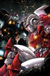 1boy 1girl arcee autobot frown glowing glowing_eyes kotteri lips mecha no_humans prowl robot science_fiction transformers
