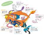 anger_vein blush charizard claws greninja hatsuru_826 lucario mew mewtwo no_humans pikachu pokemon super_smash_bros. translation_request
