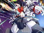 battle choujikuu_yousai_macross firing gunpod highres itano_circus macross macross:_do_you_remember_love? mecha missile reactive_armor science_fiction vf-1 vf-1_super vf-1j
