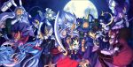 animal_ears black_hair blue_hair bunny_girl butler cat_girl dancer dark_skin duel_monster fox_girl green_hair green_skin hair_over_eyes lunalight_black_sheep lunalight_blue_cat lunalight_cat_dancer lunalight_crimson_fox lunalight_leo_dancer lunalight_panther_dancer lunalight_purple_butterfly lunalight_tiger lunalight_white_rabbit lunalight_wolf mask moon multiple_girls pink_skin purple_skin redhead tail weapon white_hair wings wolf_girl yuu-gi-ou