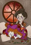 eugenia_beilschmidt hair_bun highres kelheor original silk solo spider_web violet_eyes witch