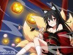 1boy absurdres bellezza_felutia black_hair blue_eyes felutiahime halloween halloween_costume heterochromia highres long_hair original otoko_no_ko red_eyes skirt solo translated