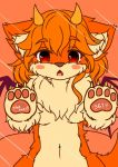 artist_request dog furry paw red_eyes redhead short_hair