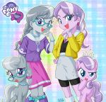 2girls diamond_tiara female multiple_girls multiple_views my_little_pony my_little_pony_equestria_girls my_little_pony_friendship_is_magic personification silver_spoon skirt tagme uotapo
