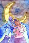 artist_request bowtie crescent_moon dress lopunny machoke moon pokemon