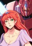 1girl galient green_eyes hilmuka kikou-kai_galient long_hair mecha redhead sakusakusakurai