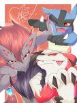 highres kamichan_(kamichan0421) lucario lycanroc pokemon pokemon_(creature) zoroark 神ちゃん