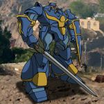 highres hirodango kikou-kai_galient mecha shield sword weapon zuwel