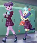 2girls coco_pommel multiple_girls my_little_pony my_little_pony_equestria_girls my_little_pony_friendship_is_magic personification school_uniform suri_polomare tagme uotapo
