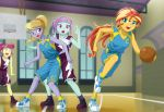 4girls basketball cloudy_kicks multiple_girls my_little_pony my_little_pony_equestria_girls my_little_pony_friendship_is_magic personification sour_sweet sunny_flare sunset_shimmer tagme uotapo