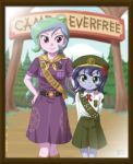 2girls age_difference celestia_(my_little_pony) girl_scout luna_(my_little_pony) multiple_girls my_little_pony my_little_pony_equestria_girls my_little_pony_friendship_is_magic tagme uotapo younger