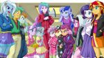 2boys 6+girls apple_bloom celestia_(my_little_pony) diamond_tiara glasses luna_(my_little_pony) megaphone multiple_boys multiple_girls my_little_pony my_little_pony_equestria_girls my_little_pony_friendship_is_magic personification pinkie_pie rarity scootaloo silver_spoon snails_(mlp) snips sunset_shimmer sweetie_belle tagme trixie_lulamoon uotapo