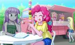 5girls derpy_hooves fawn_doo ice ice_cream marcie_pan maud_pie multiple_girls my_little_pony my_little_pony_equestria_girls my_little_pony_friendship_is_magic personification pinkie_pie tagme uotapo van