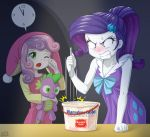 2girls ice_cream multiple_girls my_little_pony my_little_pony_equestria_girls my_little_pony_friendship_is_magic personification rarity spike_(my_little_pony) sweetie_belle tagme uotapo yawning