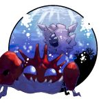 artist_request cloyster kingler no_humans pokemon underwater water
