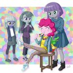 4girls limestone_pie marble_pie maud_pie multiple_girls my_little_pony my_little_pony_equestria_girls my_little_pony_friendship_is_magic personification pinkie_pie tagme uotapo younger