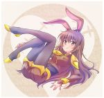 1girl animal_ears brown_eyes brown_hair bunny_girl covered_navel iesupa long_hair rabbit_ears rwby solo velvet_scarlatina