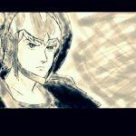 1boy artist_request jordy_vorder kikou-kai_galient male_focus monochrome solo